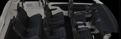 Offers 81 possible seating and cargo configurations