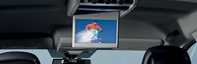 Available Rear-Seat Video Group with 2nd-row overhead 9-inch video screen with remote control