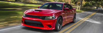 The quickest, fastest, most-powerful sedan in the world36: The Charger SRT® Hellcat with 707 horsepower and 650 lb-ft of torque.