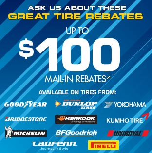 GREAT TIRE REBATES